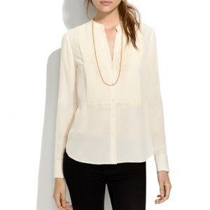 Madewell Silk Tux Shirt
